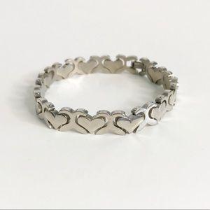Jewelry - STERLING SILVER Heart Link Bracelet